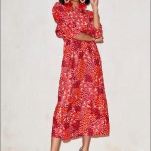 Red Lucy Floral Dress